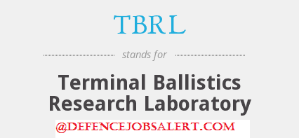 DRDO-TBRL Recruitment