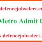 UP Metro Rail Varoius Admit Card 2021 – Call Letter Download