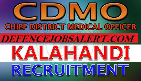 CDMO Kalahandi Recruitment