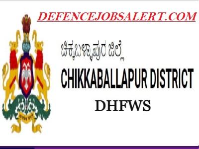 DHFW Department Chikkaballapura Recruitment
