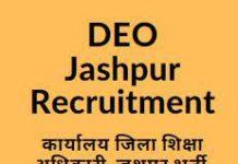 DEO Jashpur Recruitment