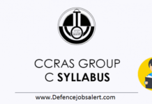 CCRAS Group C Syllabus