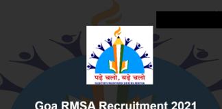 Goa RMSA Recruitment