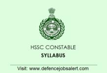 HSSC Constable Syllabus