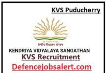 KVS Puducherry Recruitment
