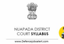 Nuapada District Court Syllabus