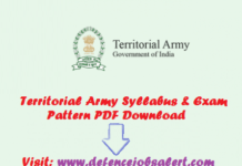 Territorial Army Syllabus