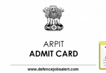 ARPIT Admit Card