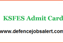 KSFES Admit Card