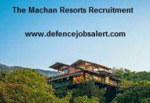 The Machan Resorts Recruitment